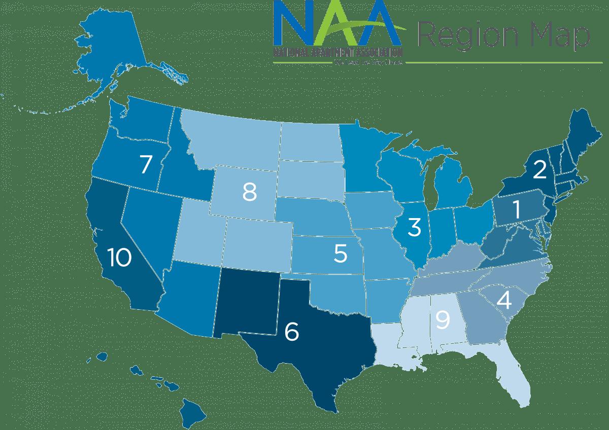 NAA Regional Map