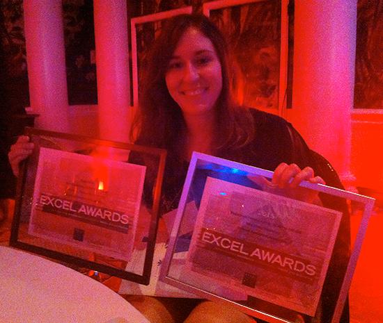 Lauren Boston Accepts Excel Awards