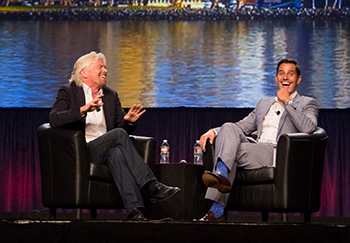 Bill Rancic interviews Richard Branson at the 2013 NAA Education Conference & Exposition in San Diego