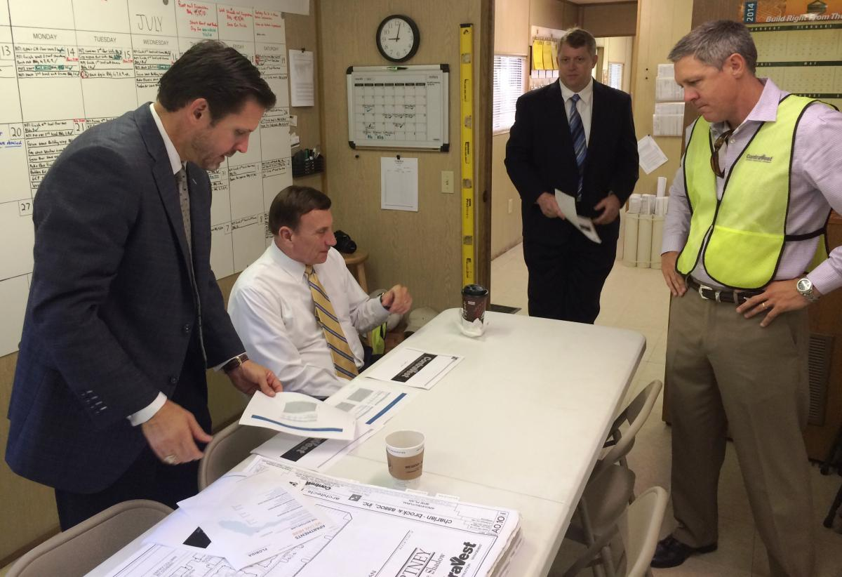 Rep Mica reviews plans with ContraVest