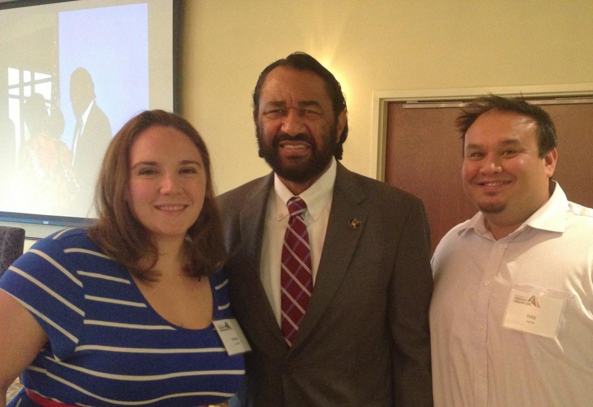 NAA Members with Rep. Al Green