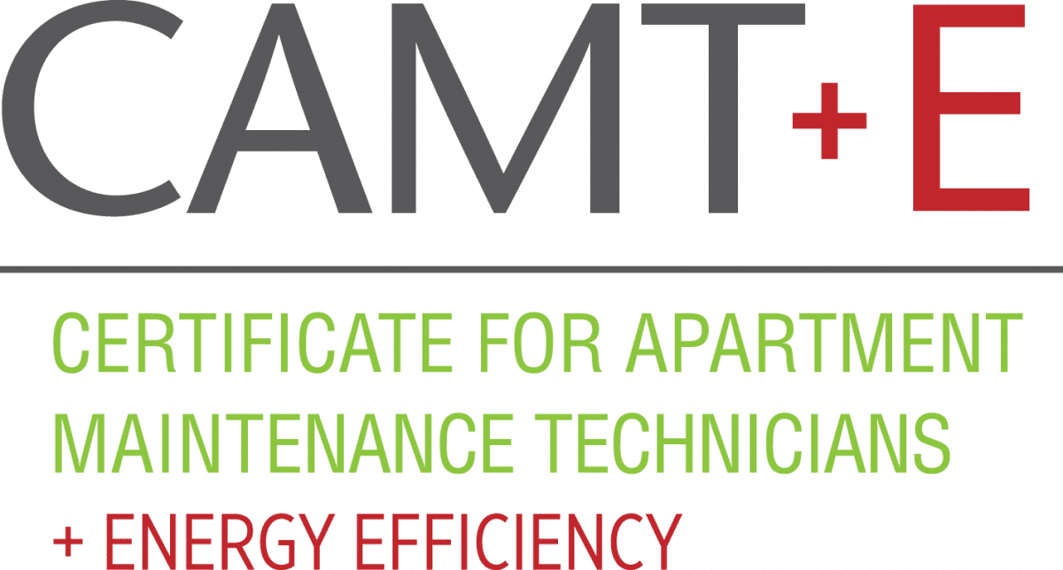 Certified Apartment Maintenance Technician plus Energy Efficiency logo