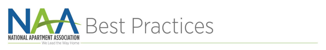 The NAA logo with thin gray text reading 'Best Practices' over a green horizontal line